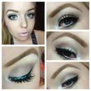 glitter work makeup