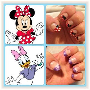 These nails i have done i loved!! so i put the pictures of where i got the ideas from next to them :)
