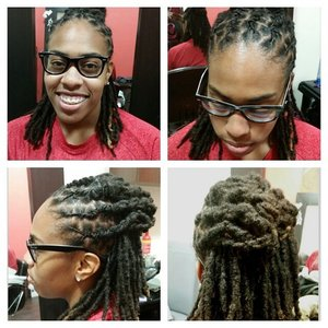 Loc retwist and style... for booking visit www.styleseat.com/tatianawilson