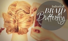 ★ BUTTERFLY BRAID BUN TUTORIAL | PT2 FRENCH FISHTAIL BRAIDED CUTE HAIRSTYLES FOR MEDIUM LONG HAIR