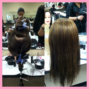 learned how to do highlights today at school! :)