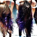 dip dyed purple