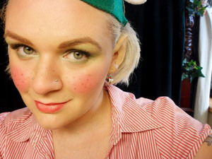 Christmas Elf. My Christmas Eve look [for work].