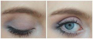 I created this soft blue and purple eye that was really simple and cute!