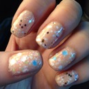 Nude with glitter!