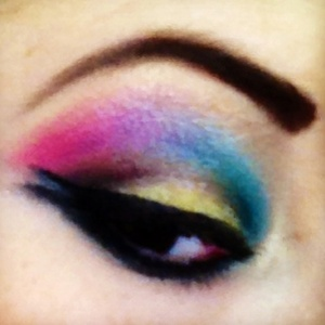 My own make up last weekend! I loved it!