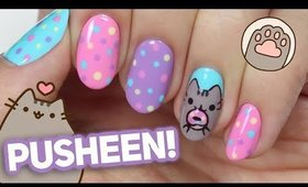 PUSHEEN Nail Art Tutorial *SO CUTE!*