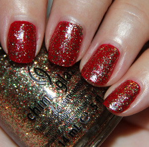 China Glaze Winter Berry with Twinkle Lights