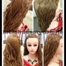 Summer Basketweave-Waterfall Braid Hairstyle