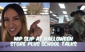 Nip Slip at Halloween Store