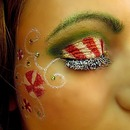 Christmas Candy Inspired Eye Makeup