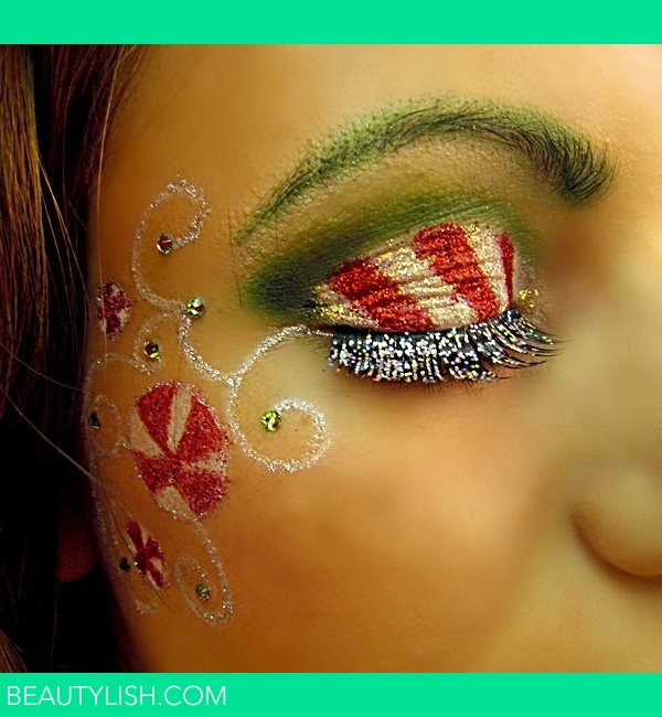 Christmas Candy Inspired Eye Makeup Kayla C S Photo