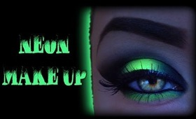 Neon Smoky Eyes - Cyber/Rave Make Up Tutorial