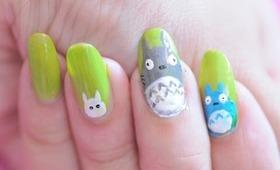 Totoro nail art tutorial