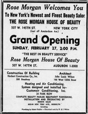"Photo: Newspaper ad from ""The New York Age"", Feb. 19, 1955"