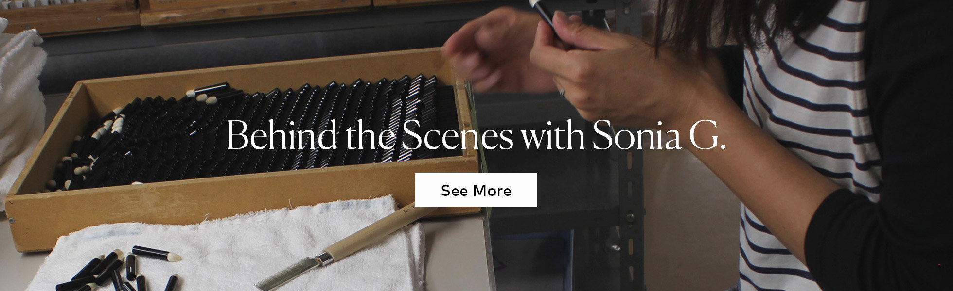 See Behind the Scenes with Sonia G.