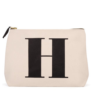 Natural Wash Bag Letter H