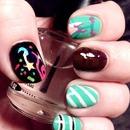 Vanellope Von Schweetz nail art design