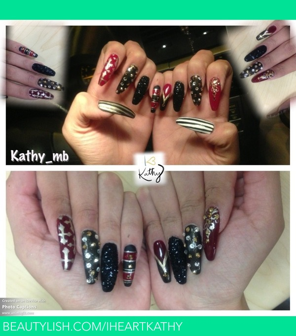 Stiletto Black And Red Nails Kathy B S Iheartkathy Photo
