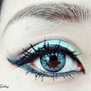 Summer eye look —Blue×Green
