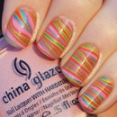 Neon Striped Water Marble