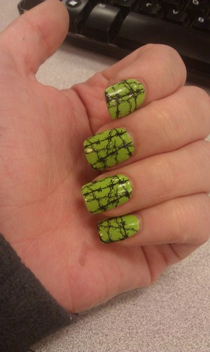 this is my second favorite mani! I hope they bring these back for Halloween! Sally Hansen Strips in Hot Wired