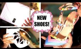 Shoe & Bag HAUL! Top Shop, Messeca, JustFab, & Valentino-ish Rainbow Pump!