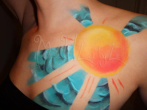A recreation of my friends tattoo, done in body paint. Alexys Fleming ©