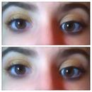 warm yellow and brown smokey eye