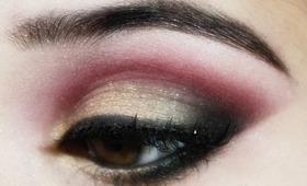 Traditional Indian Pakistani Bridal Makeup Tutorial : Pink, Gold and Black