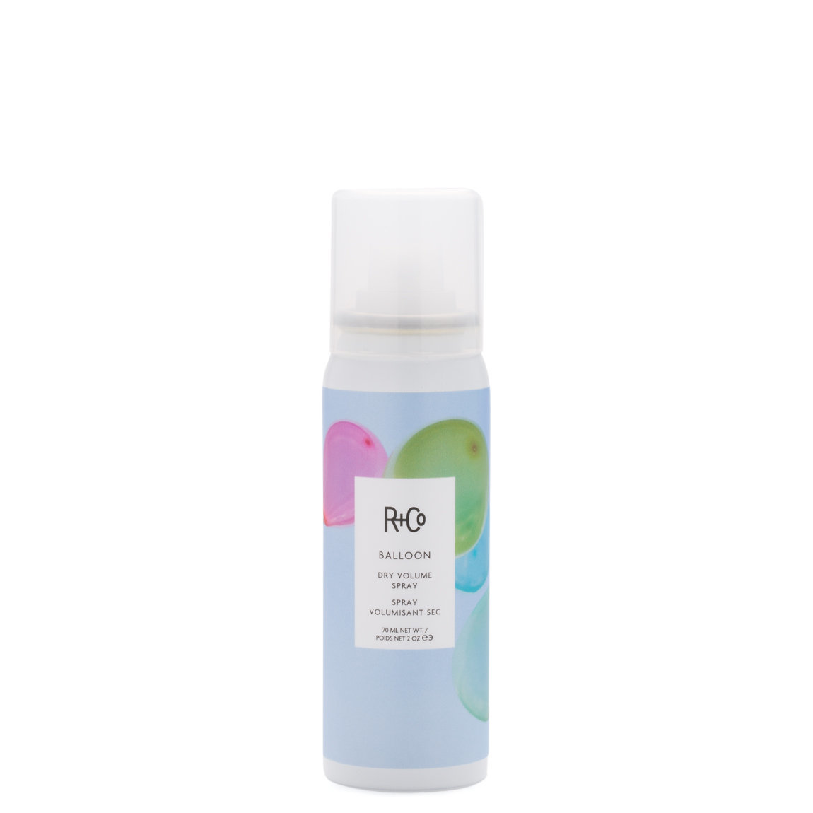 R+Co Balloon Dry Volume Spray 1.6 oz product smear.