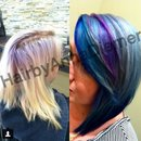 Hair transformation by me blue purple and silver hair