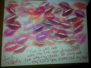 I made this lip portrait for my man for Christmas he loves my lips, its 55 different MAC lipsticks and my lips hurt lol