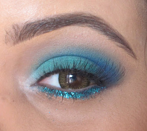 So you know all those awesome pictures you come across on the internet or in magazines of beaches with crystal blue water? Well this look is inspired by just that. With summer soon coming to an end I wanted to fit in some kind of beachy inspired look and this is what I came up with.