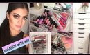 ORGANIZE MY MAKEUP COLLECTION WITH ME + Makeup Storage Tips!