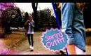 Epic Spring Fashion Video! Edgy but cute and girly spring outfit!
