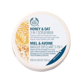 The Body Shop Honey & Oat 3-In-1 Facial Scrub