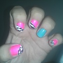 pink nd stripes