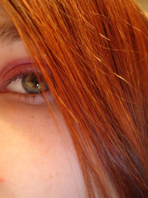 One of the many hair color choices I made in high school. The lighting made it look much more orange.