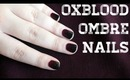 Oxblood Ombré Nail Art Tutorial (Burgundy & Black) | OliviaMakeupChannel