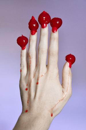 Zoya in Maura Revlon top coat Maraschino cherries on top ;)  More info here: http://bit.ly/ZUE6j1