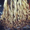 Blonde curls