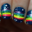 Nyan cat nails!