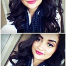 Berry lips, and soft waves for today!