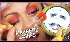 Trying Magnetic Eyelashes For The First Time | Maryam Remias
