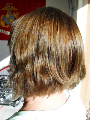 after color, highlights+toner and haircut redken chromatics 6N toner- redken shades eq mojave 8N