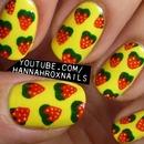 Strawberry Print Nails