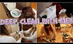 DEEP CLEAN WITH ME!! Deep Cleaning for Holiday Company!