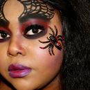 Spider Queen Halloween makeup