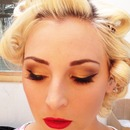 golden pinup makeup